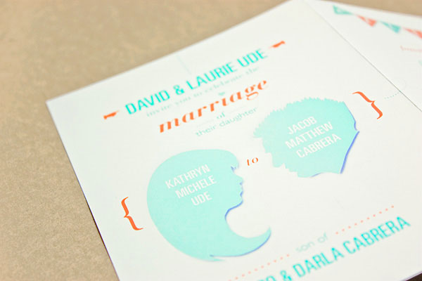 Custom Silhouette Wedding Invitations