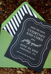 Striped Envelope Liner Save the Dates