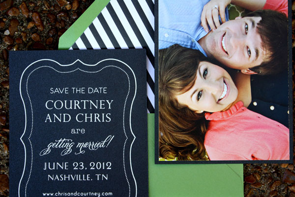 Kate Spade-Inspired Save the Dates