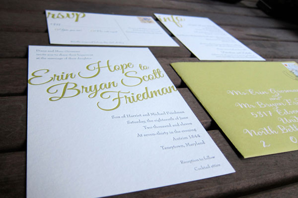 Elegant Typography Wedding Invitations