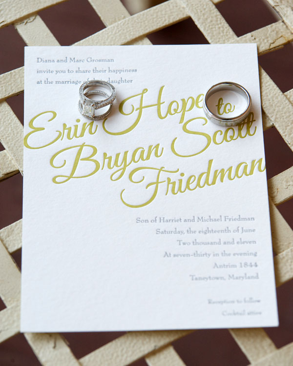 Elegant typography wedding invitations Calligraphy baltimore