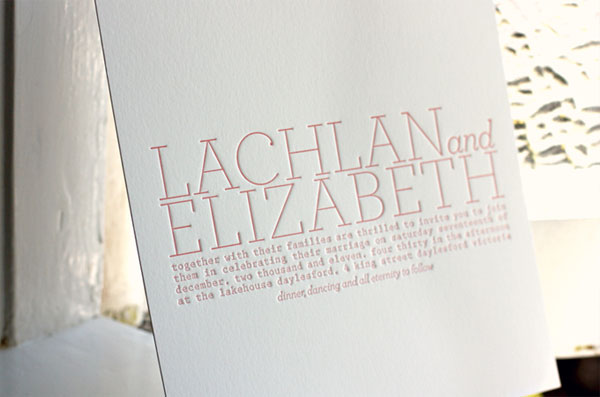 Modern Typography Wedding Invitations