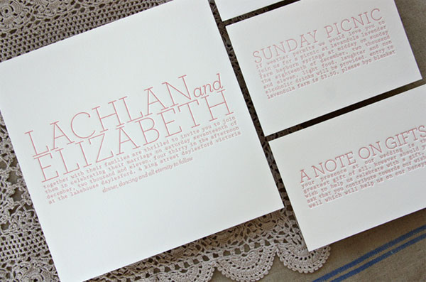Bespoke Press Custom Letterpress Invitations