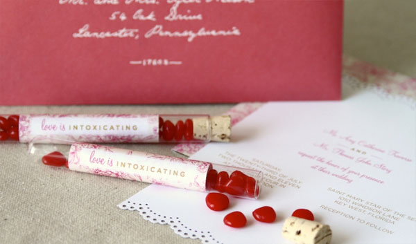 The Story wedding invitation suite by Anticipate Invitations blends classic
