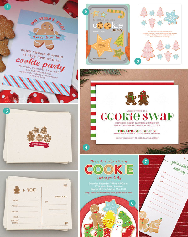 Cookie Exchange Party Invitations