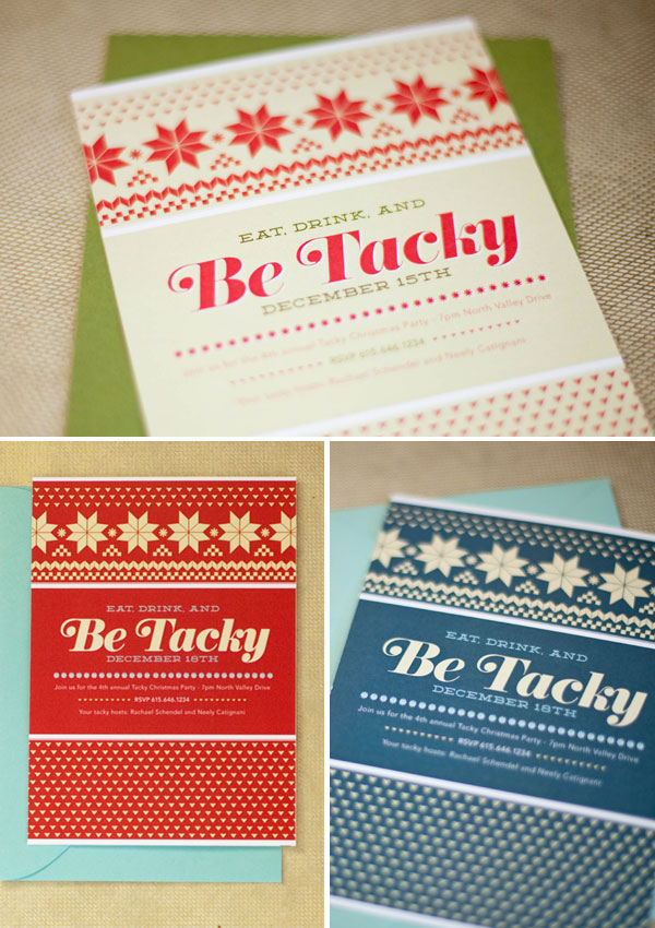Tacky Sweater Party Invitations