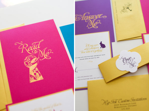 Gold Foil Stamped Invitations