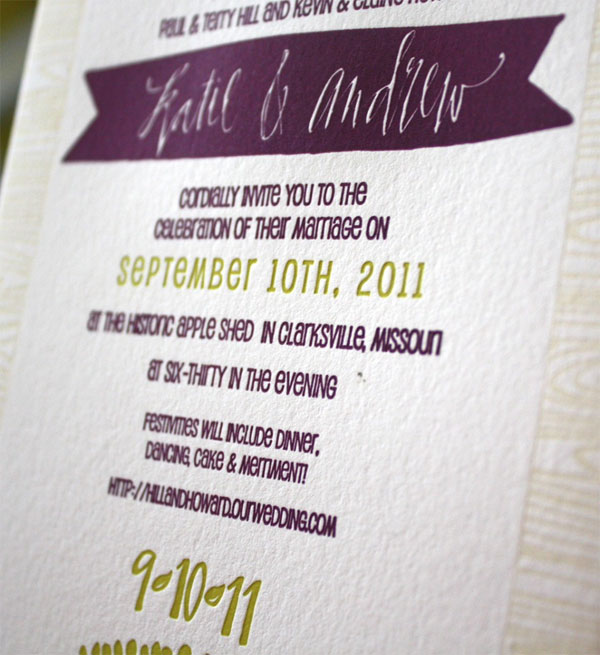 Custom Calligraphy Wedding Invitations