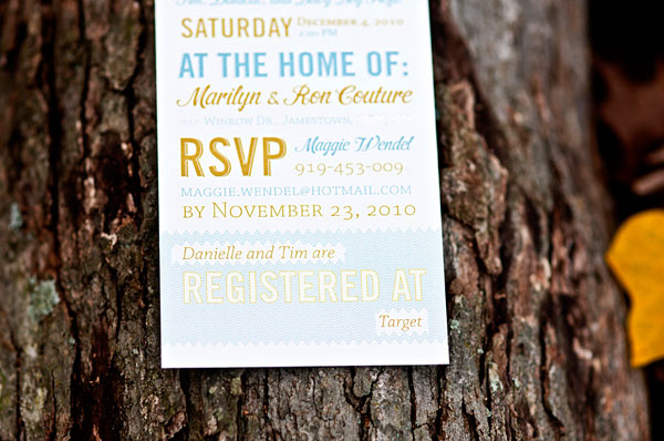 Typographic Baby Shower Invitations