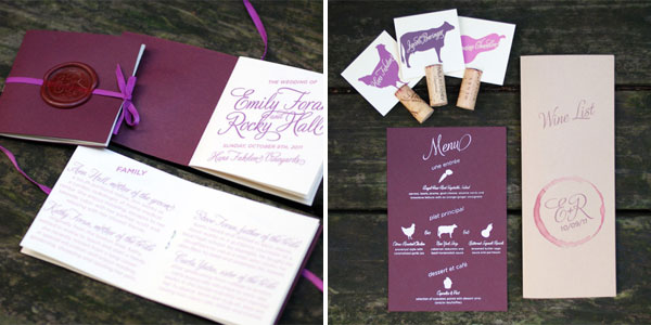 Custom Wedding Programs and Menus