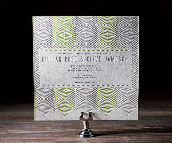 Tapestry Letterpress Wedding Invitations
