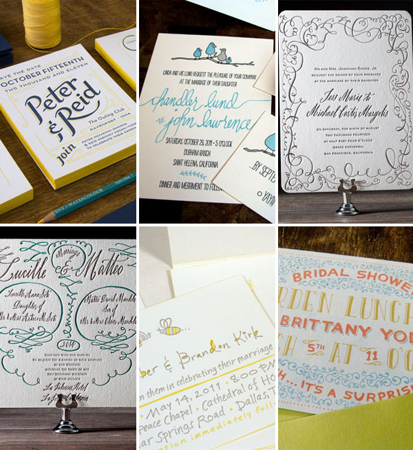 Calligraphy Hand Lettered Wedding Invitations