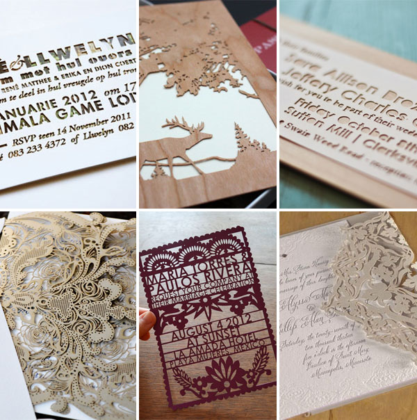 Laser Cut Die Cut Wedding Invitations