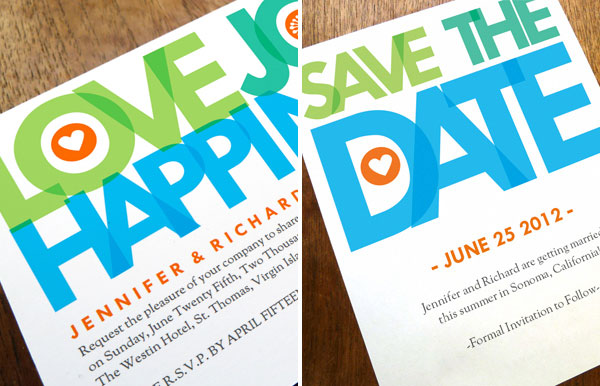 Printable Wedding Invitation Save the Date Love Joy Happiness