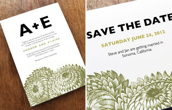 Printable Wedding Invitation Save the Date Thistle