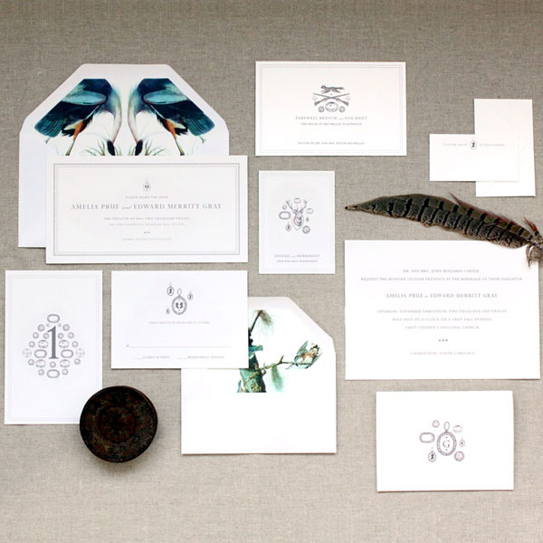 Hunt & Gather Wedding Invitations