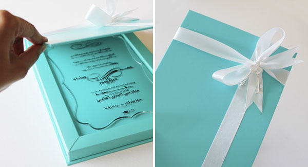 High Quality Natoof Custom Wedding Invitations. Tiffany Blue Wedding Invitation Box