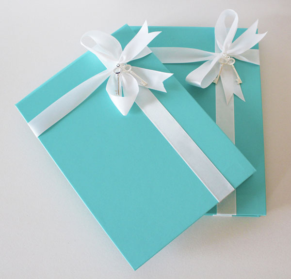 Tiffany Blue Wedding Invitation Box