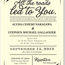 All the Roads Wedding Invitations