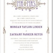 Artistic Deco Letterpress Wedding Invitations