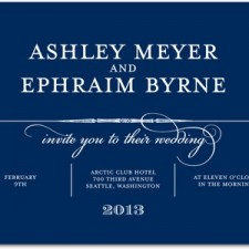 Calligrapher Notes Wedding Invitations