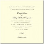 Calligraphy Swirl Wedding Invitations