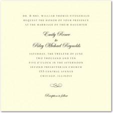 Calligraphy Swirl Wedding Invitations