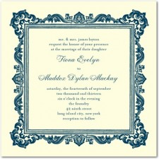 Carved Frame Wedding Invitations