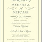 Charming Celebration Letterpress Wedding Invitations