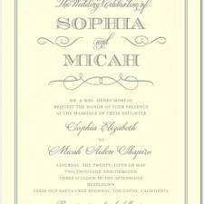 Charming Celebration Letterpress Wedding Invitations
