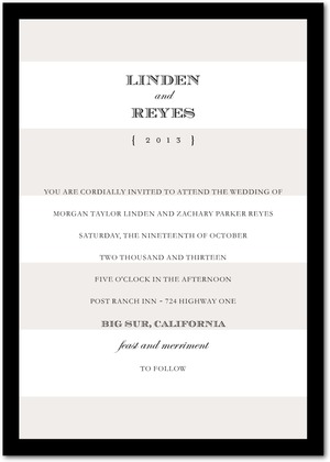Deluxe Stripes Wedding Invitations