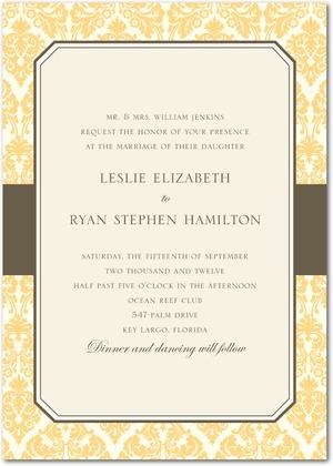 designer damask wedding invitations