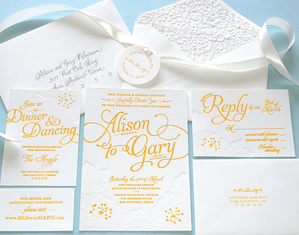 Wedding Invites Letterpress: DIY Letterpress Wedding Invitations
