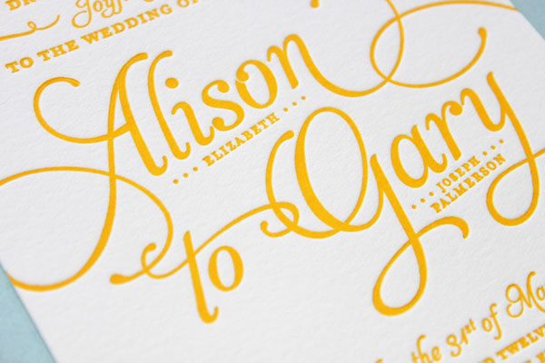 L Letterpress Wedding Invitations