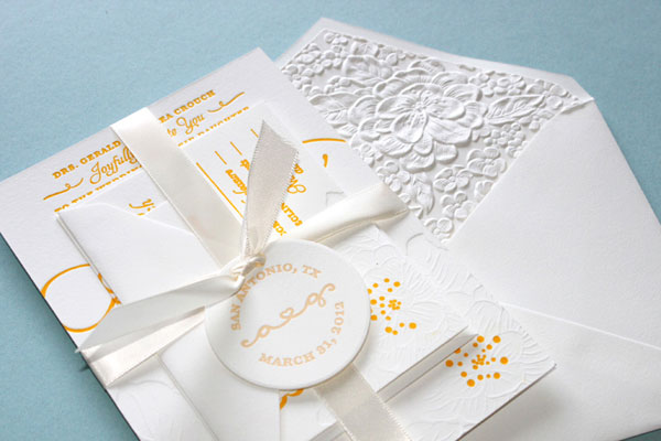 DIY Letterpress Wedding Invites