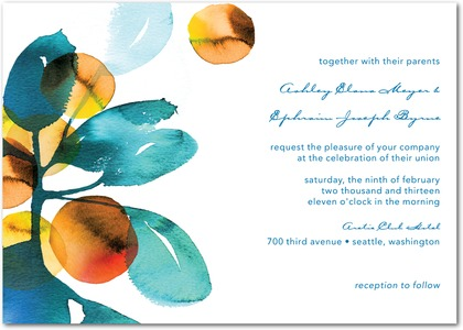 Dream In Color Wedding Invitations
