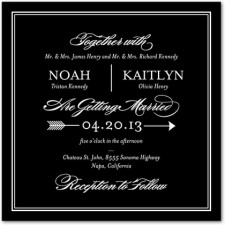 Ever Arrow Wedding Invitations