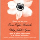 Fine Anemone Wedding Invitations