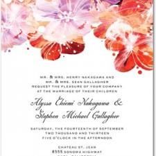 Flower Fantasia Wedding Invitations