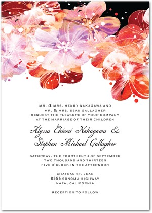 Flower Fantasia Wedding Invitations