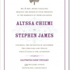 French Flourish Wedding Invitations
