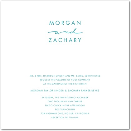 Handwritten Chic Wedding Invitations