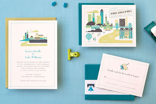Philadelphia Wedding Invitations