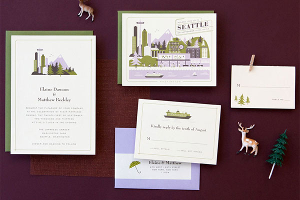 Destination Wedding Invitations Marthas Vineyard Seattle