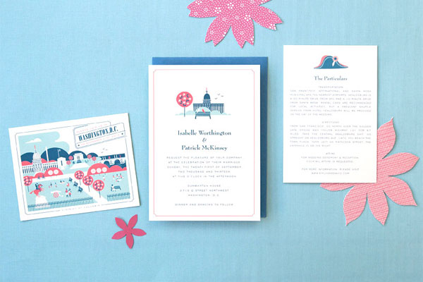 Washington D.C. Wedding Invitations