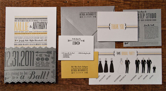 Kallie Anthonys New Years Eve Wedding Invitations Invitation