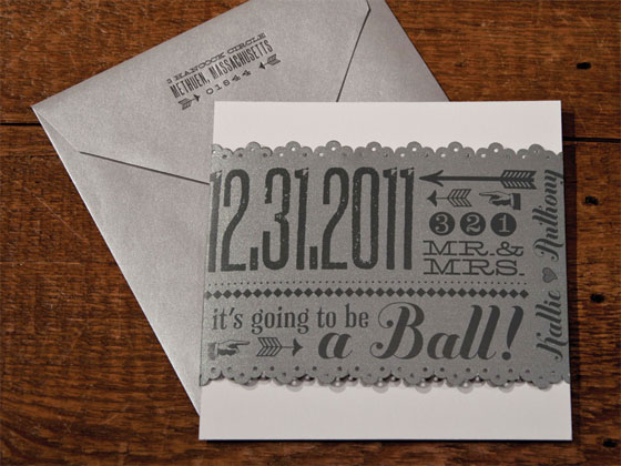 kallie + anthony's new year's eve wedding invitations - invitation, Wedding invitations