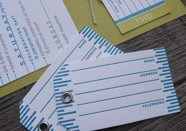 Letterpress Luggage Tags