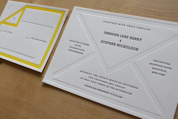 Vintage Stationery Wedding Invitations