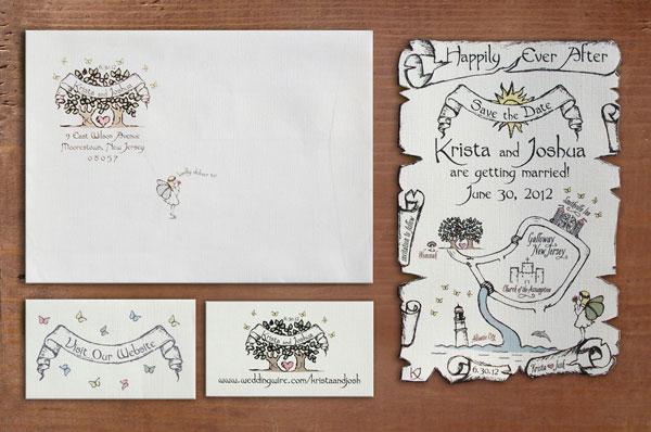 Sweet Fairy Tale Map Save the Date